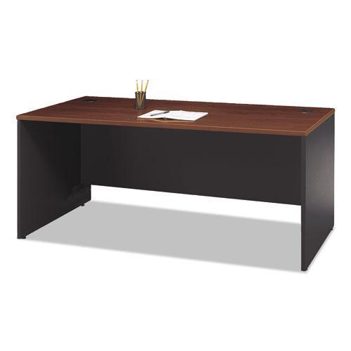 "Series C Collection Desk Shell, 71.13"" x 29.38"" x 29.88"", Hansen Cherry/Graphite Gray. Picture 2"