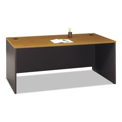 """Series C Collection Desk Shell, 71.13"""" x 29.38"""" x 29.88"""", Natural Cherry/Graphite Gray. Picture 2"""