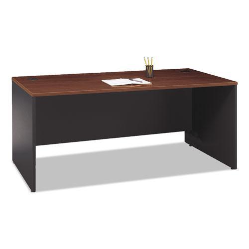 "Series C Collection Desk Shell, 71.13"" x 29.38"" x 29.88"", Hansen Cherry/Graphite Gray. Picture 4"