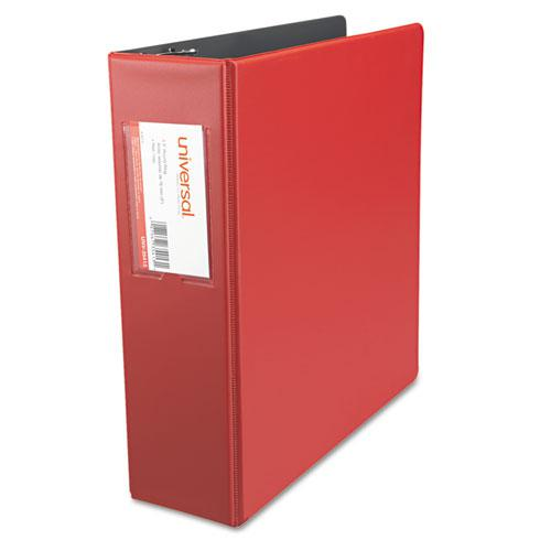 """Economy Non-View Round Ring Binder, 3 Rings, 3"""" Capacity, 11 x 8.5, Red. Picture 4"""