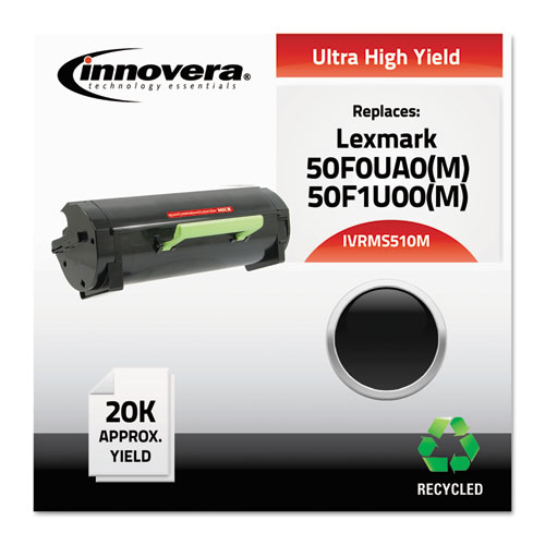 Remanufactured 50F0UA0 (MS510M) Ultra High-Yield MICR Toner, 20000 Pg-Yld, Black. Picture 1
