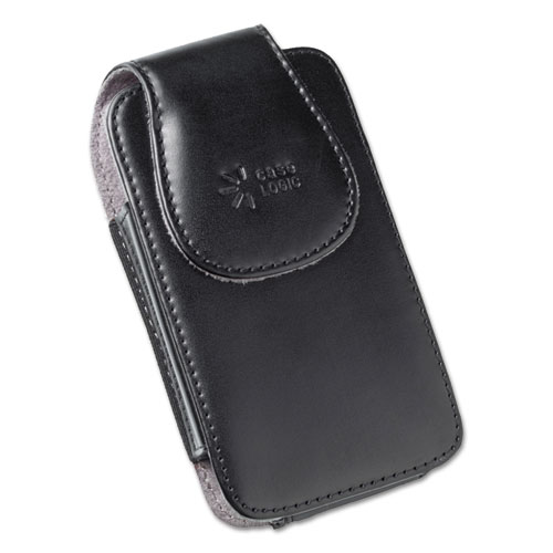 Horizontal Pouch for Belt, Leather, Black. Picture 1