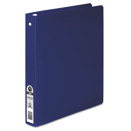 """ACCOHIDE Poly Round Ring Binder, 3 Rings, 1"""" Capacity, 11 x 8.5, Dark Blue. Picture 1"""