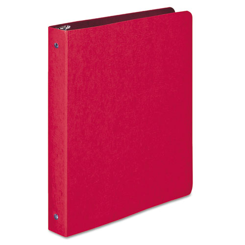 """PRESSTEX Round Ring Binder, 3 Rings, 1"""" Capacity, 11 x 8.5, Executive Red. Picture 1"""