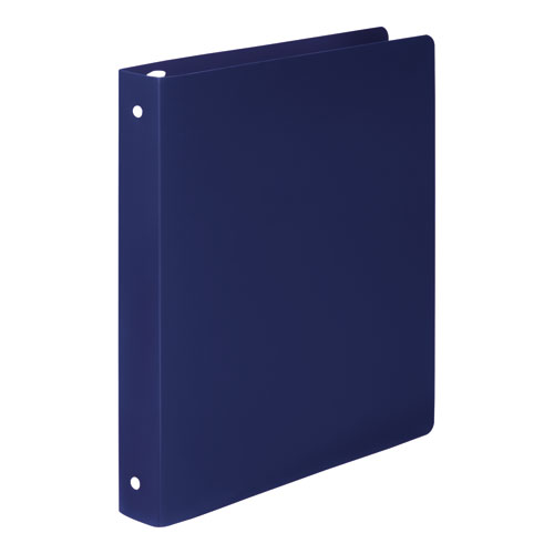 """ACCOHIDE Poly Round Ring Binder, 3 Rings, 1"""" Capacity, 11 x 8.5, Dark Blue. Picture 2"""