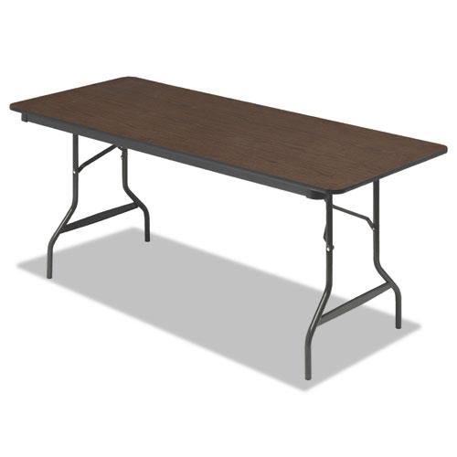 """Iceberg Economy Wood-Laminate Folding Table, 30"""" x 72"""", Walnut. Picture 1"""