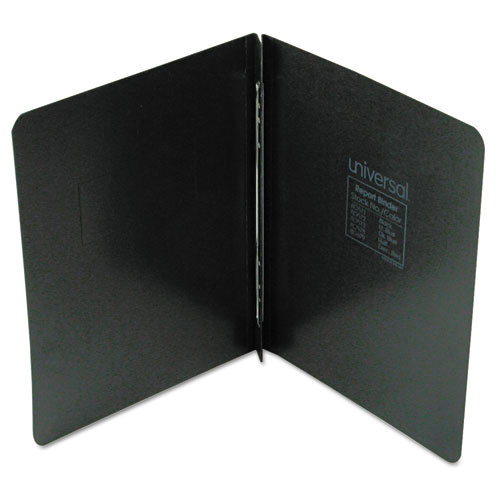 """Pressboard Report Cover, Prong Clip, Letter, 3"""" Capacity, Black. Picture 1"""
