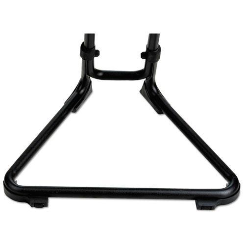 Alera SS Series Sit/Stand Adjustable Stool, Black/Black, Black Base. Picture 6