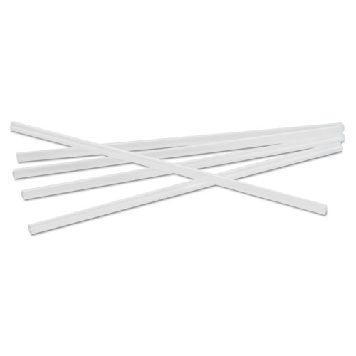 "Jumbo Straws, 7 3/4"", Plastic, Translucent, Unwrapped, 250/Pack. Picture 1"