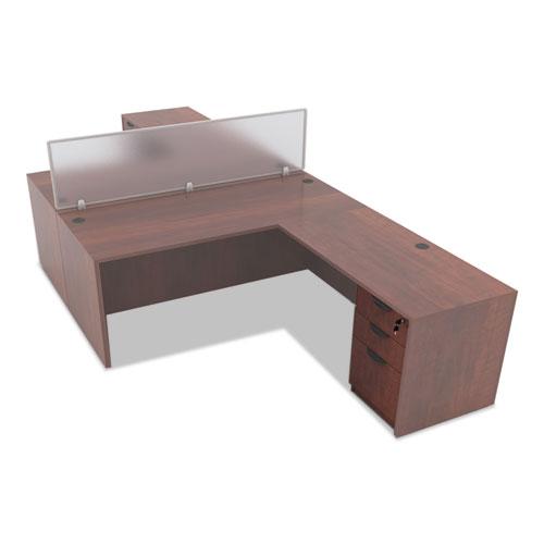 Alera Valencia Box/Box/File Full Pedestal, 15.63w x 20.5d x 28.5h, Medium Cherry. Picture 6