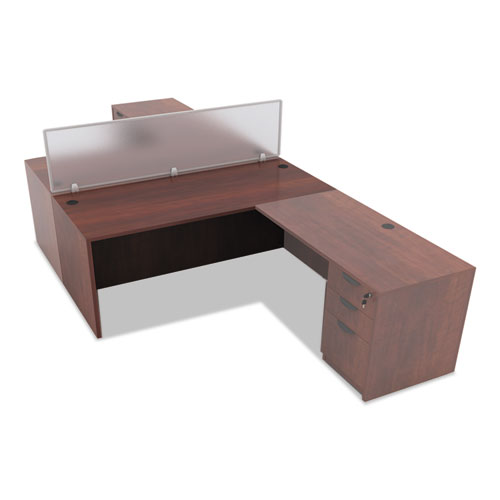"Alera Valencia Series Straight Front Desk Shell, 65"" x 29.5"" x 29.63"", Medium Cherry. Picture 6"