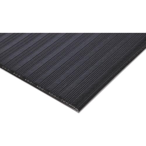 Ribbed Vinyl Anti-Fatigue Mat, 24 x 36, Black. Picture 4