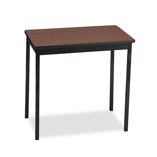 Utility Table, Rectangular, 30w x 18d x 30h, Walnut/Black. Picture 1