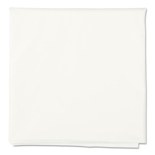 """Octy-Round Plastic Tablecover, 82"""" diameter, White, 12/Carton. Picture 1"""