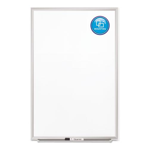 Classic Series Porcelain Magnetic Board, 36 x 24, White, Silver Aluminum Frame. Picture 3
