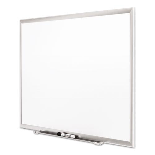 Classic Series Porcelain Magnetic Board, 36 x 24, White, Silver Aluminum Frame. Picture 8