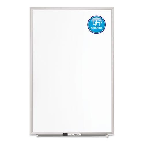 Classic Series Porcelain Magnetic Board, 48 x 36, White, Silver Alum. Frame. Picture 8