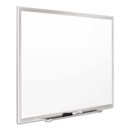 Classic Series Porcelain Magnetic Board, 60 x 36, White, Silver Aluminum Frame. Picture 6