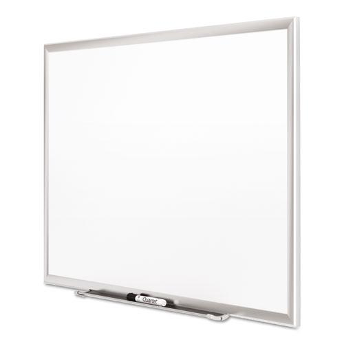 Classic Series Porcelain Magnetic Board, 48 x 36, White, Silver Alum. Frame. Picture 5