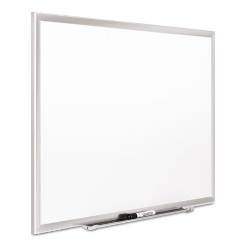 Classic Series Porcelain Magnetic Board, 48 x 36, White, Silver Alum. Frame. Picture 3