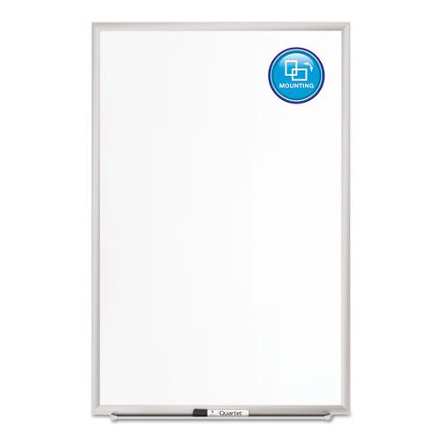 Classic Series Porcelain Magnetic Board, 60 x 36, White, Silver Aluminum Frame. Picture 2