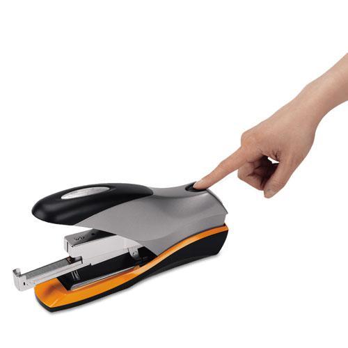 Optima 70 Desktop Stapler, 70-Sheet Capacity, Silver/Black/Orange. Picture 4