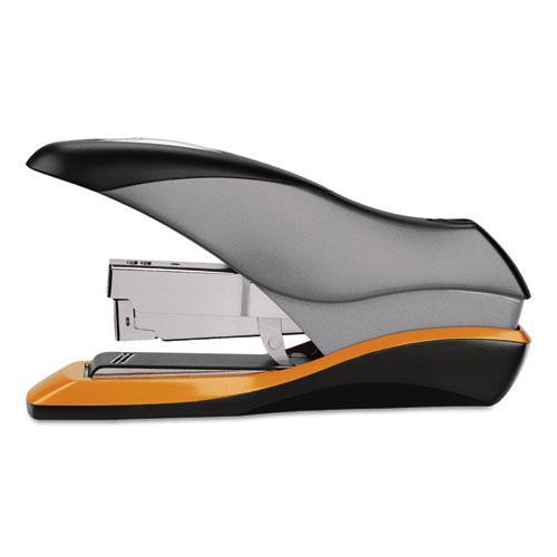 Optima 70 Desktop Stapler, 70-Sheet Capacity, Silver/Black/Orange. Picture 2
