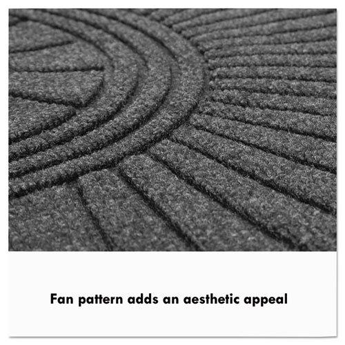 EcoGuard Diamond Floor Mat, Double Fan, 36 x 96, Charcoal. Picture 2