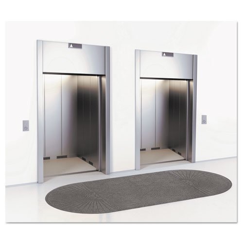 EcoGuard Diamond Floor Mat, Double Fan, 36 x 96, Charcoal. Picture 3