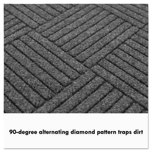 EcoGuard Diamond Floor Mat, Double Fan, 36 x 96, Charcoal. Picture 6