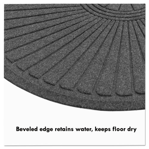 EcoGuard Diamond Floor Mat, Double Fan, 36 x 96, Charcoal. Picture 7