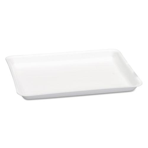 Supermarket Tray, Foam, White, 9 1/4 x 12.13 x 3/4, 125/Bag, 2 Bag/Carton. Picture 1