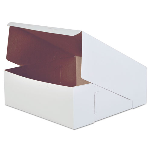 Bakery Boxes, White, Paperboard, 14 x 14 x 5, 50/Carton. Picture 1