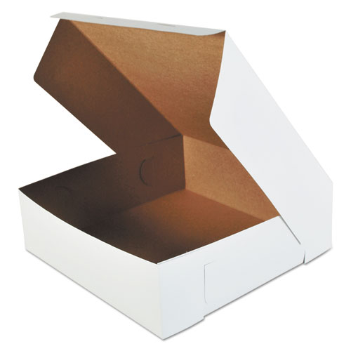 Bakery Boxes, White, Paperboard, 16 x 16 x 5, 50/Carton. Picture 1