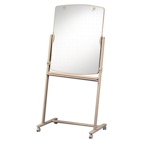 Total Erase Reversible Mobile Easel, 31 x 41, White Surface, Neutral Frame. Picture 3