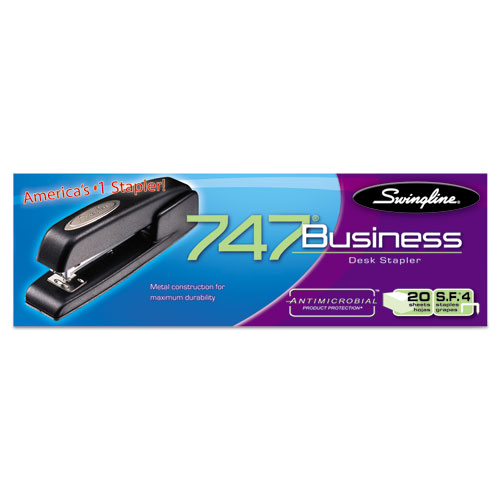 747 Business Full Strip Desk Stapler, 25-Sheet Capacity, Black. Picture 5