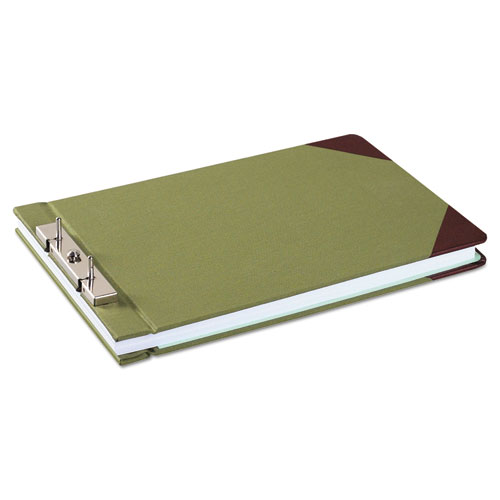 """Canvas Sectional Storage Post Binder, 2 Posts, 3"""" Capacity, 8.5 x 14, Green. Picture 1"""