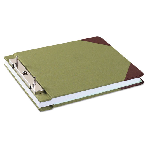 """Canvas Sectional Storage Post Binder, 2 Posts, 3"""" Capacity, 8.5 x 11, Green. Picture 1"""