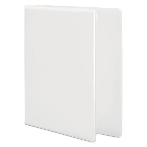 """Basic D-Ring View Binder, 3 Rings, 4"""" Capacity, 11 x 8.5, White. Picture 2"""