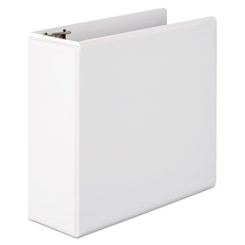 """Basic D-Ring View Binder, 3 Rings, 4"""" Capacity, 11 x 8.5, White. Picture 3"""