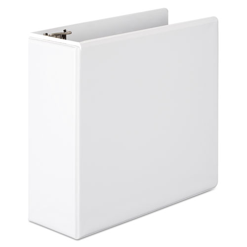 """Basic D-Ring View Binder, 3 Rings, 4"""" Capacity, 11 x 8.5, White. Picture 1"""