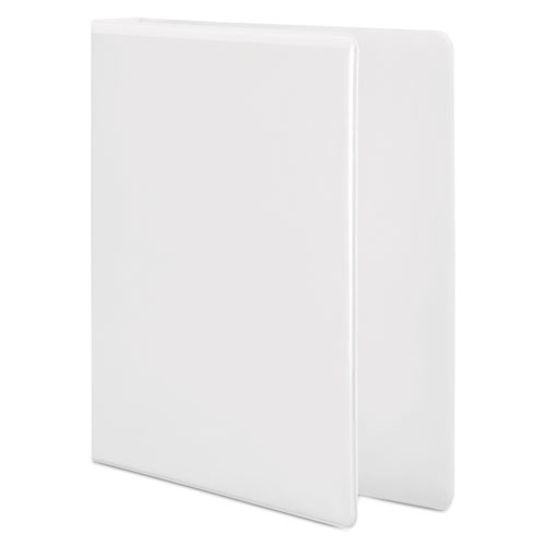"""Basic D-Ring View Binder, 3 Rings, 1.5"""" Capacity, 11 x 8.5, White. Picture 2"""