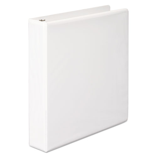 """Basic D-Ring View Binder, 3 Rings, 1.5"""" Capacity, 11 x 8.5, White. Picture 1"""