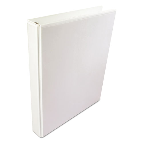"A4 International Round Ring View Binder, 4 Rings, 3"" Capacity, 11.63 x 8.13, White. Picture 1"