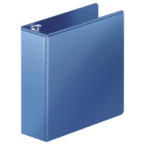 """Heavy-Duty D-Ring View Binder with Extra-Durable Hinge, 3 Rings, 3"""" Capacity, 11 x 8.5, PC Blue. Picture 1"""
