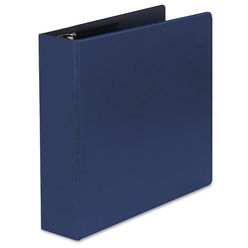 """Deluxe Non-View D-Ring Binder with Label Holder, 3 Rings, 2"""" Capacity, 11 x 8.5, Royal Blue. Picture 6"""