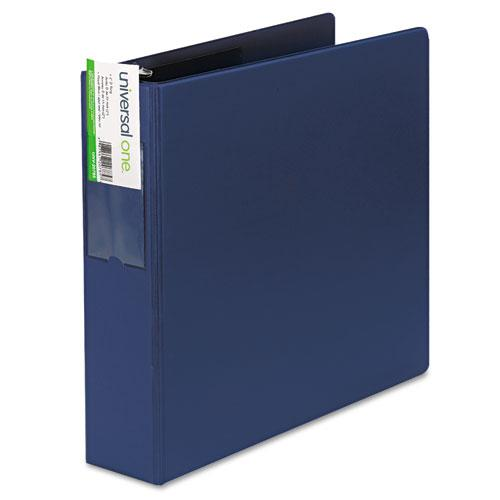 """Deluxe Non-View D-Ring Binder with Label Holder, 3 Rings, 2"""" Capacity, 11 x 8.5, Royal Blue. Picture 5"""