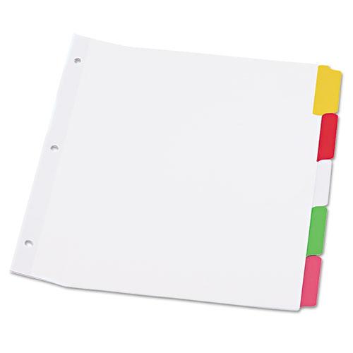 Deluxe Write-On/Erasable Tab Index, 5-Tab, 11 x 8.5, White, 1 Set. Picture 1