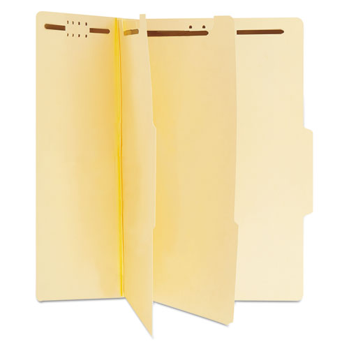 Six-Section Classification Folders, 2 Dividers, Letter Size, Manila, 15/Box. Picture 1