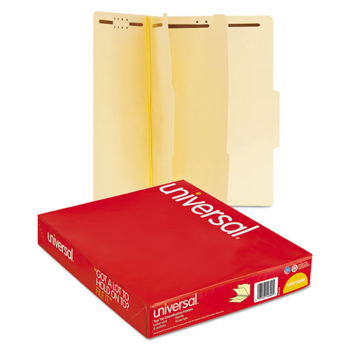 Six-Section Classification Folders, 2 Dividers, Letter Size, Manila, 15/Box. Picture 5